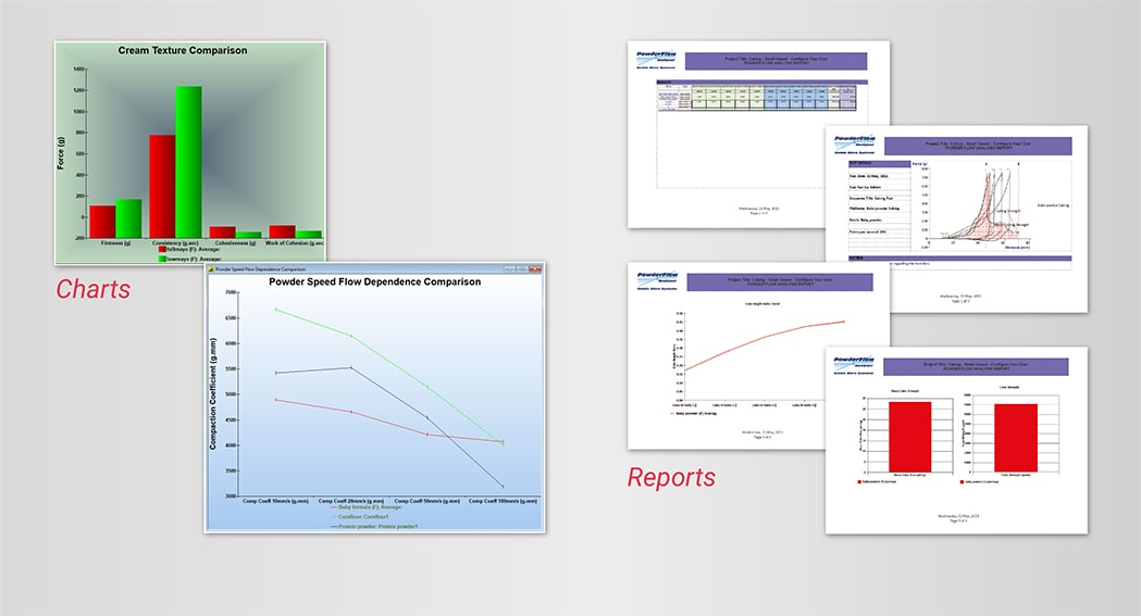 A number of Chart and Report styles are available to present your data