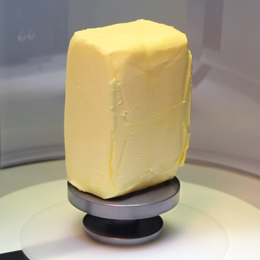 VolScan test on butter block sample