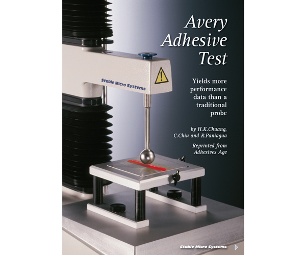 Avery Adhesive Test article