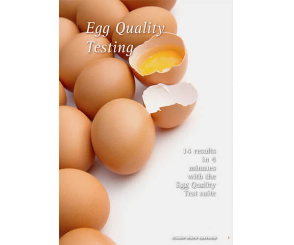 Egg quality testing article
