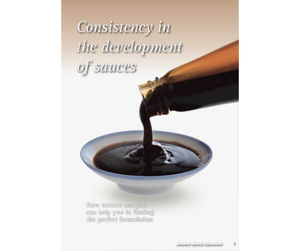 Consistency in the development of sauces article