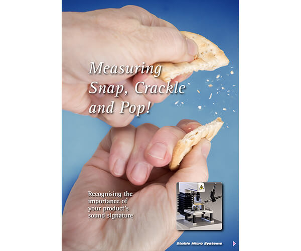 Measuring Snap, Crackle and Pop! article