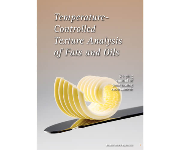 Temperature controlled fats and oils testing article