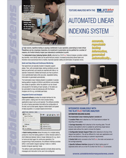 Automated Linear Indexing System brochure