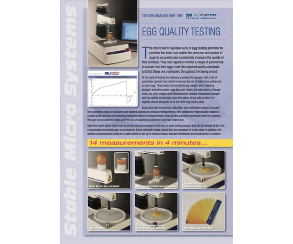 Egg quality testing brochure