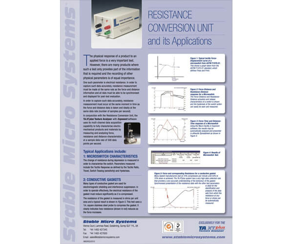 Resistance Conversion Unit brochure