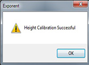Probe Height Calibration successful