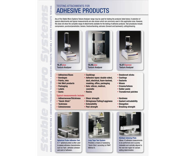 Adhesives applications brochure