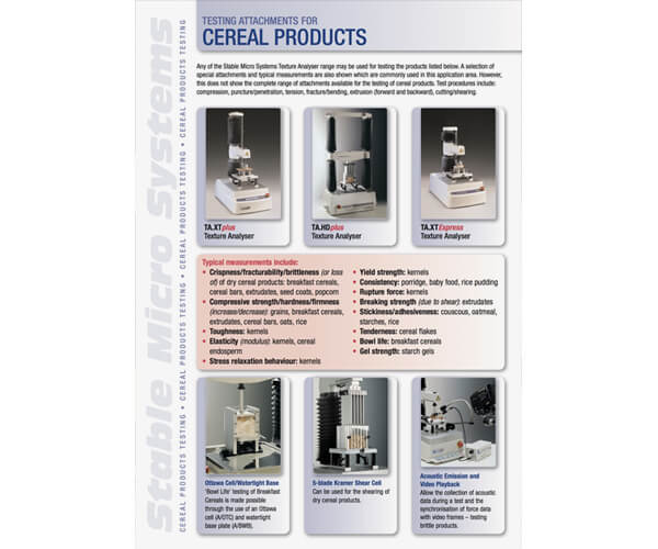 Cereals applications brochure