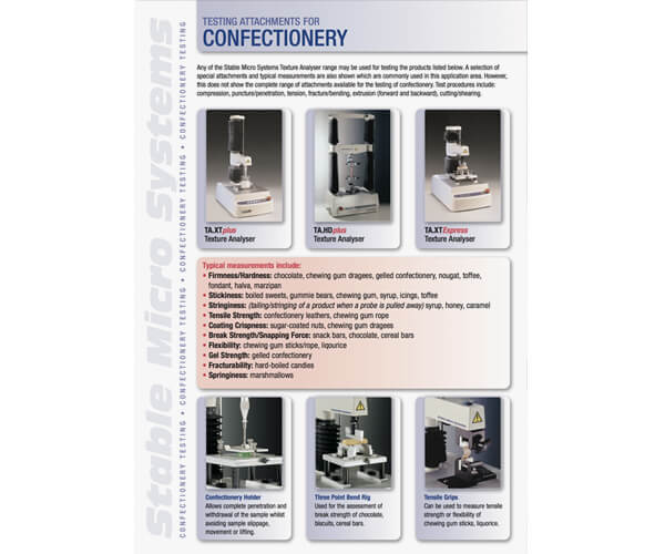 Confectionery applications brochure