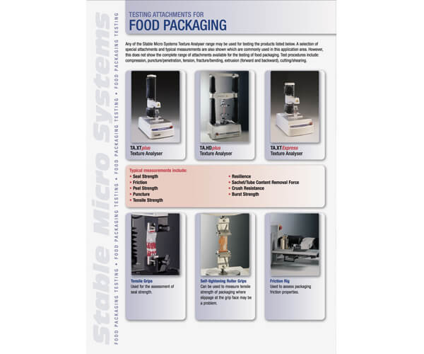 Food Packaging applications brochure