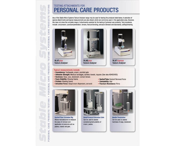 Personal Care Products applications brochure
