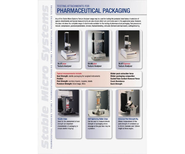 Pharmaceutical Packaging applications brochure