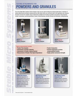 Powder and Granules applications brochure